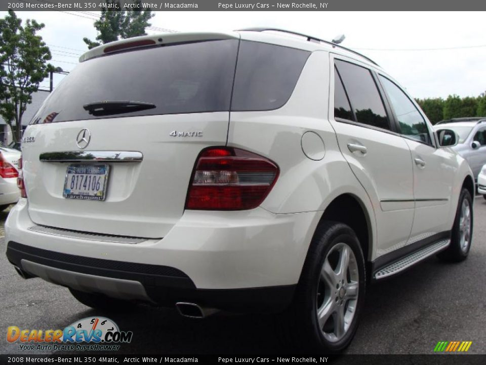 2008 mercedes benz ml 350 4matic arctic white macadamia for Mercedes benz ml 350 2008