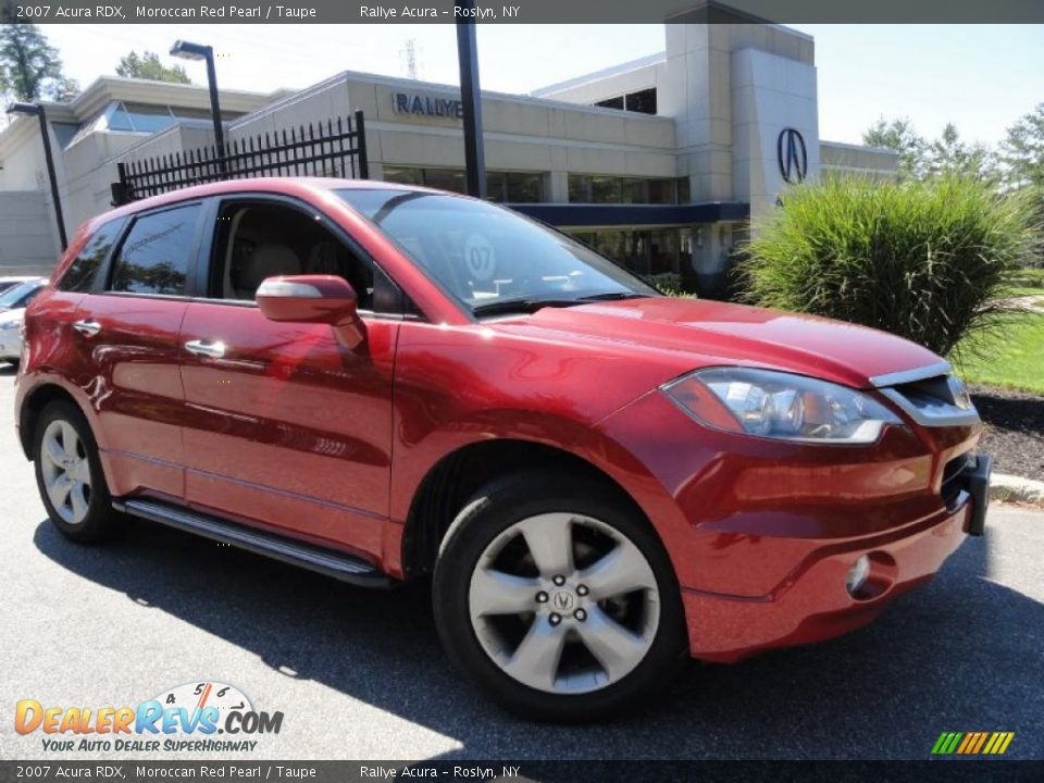2007 Acura Rdx Moroccan Red Pearl Taupe Photo 1