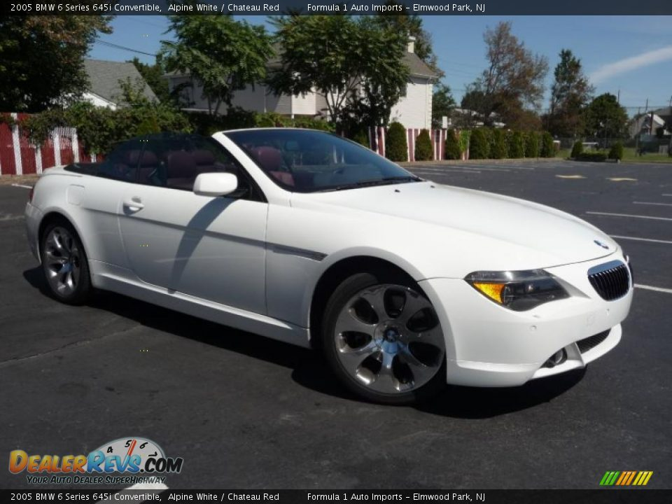 2005 bmw 6 series 645i convertible alpine white chateau red photo 3. Black Bedroom Furniture Sets. Home Design Ideas