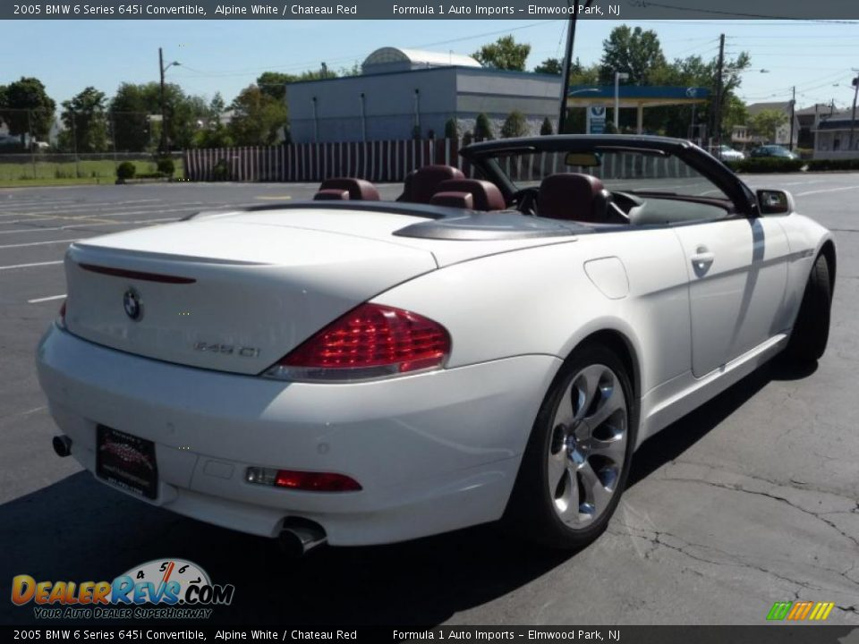 2005 bmw 6 series 645i convertible alpine white chateau red photo 4. Black Bedroom Furniture Sets. Home Design Ideas