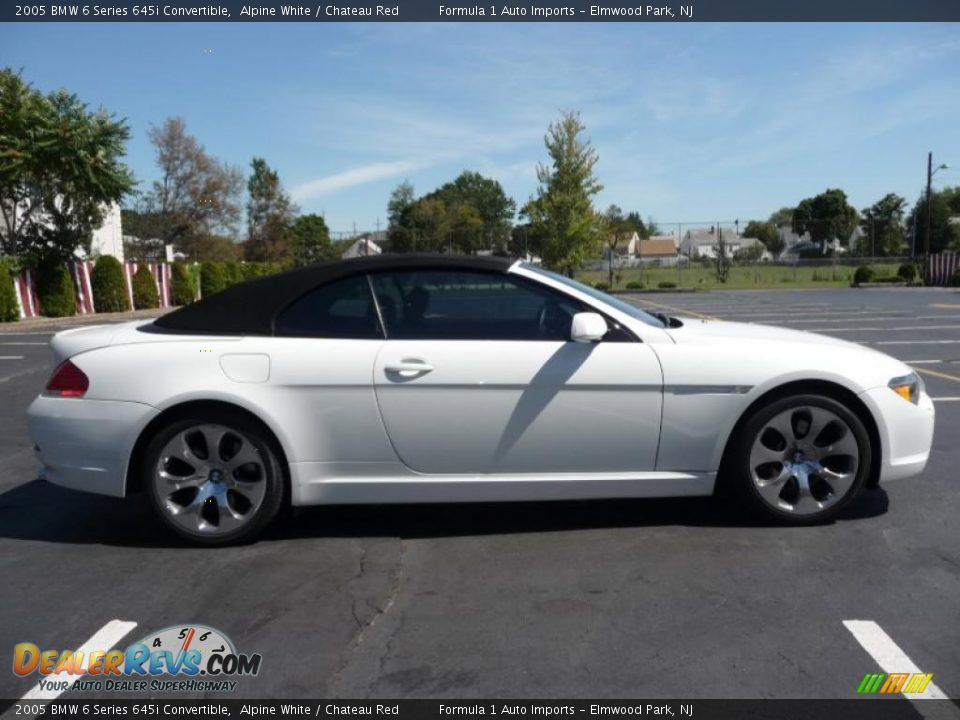 2005 bmw 6 series 645i convertible alpine white chateau red photo 14. Black Bedroom Furniture Sets. Home Design Ideas
