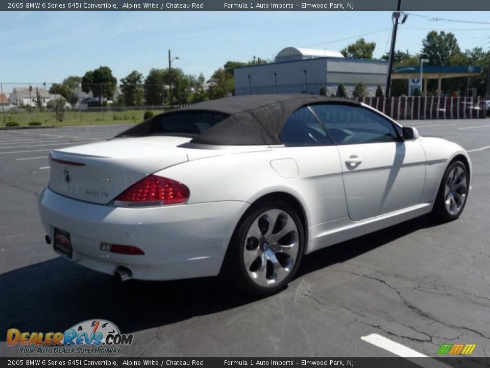 2005 bmw 6 series 645i convertible alpine white chateau red photo 15. Black Bedroom Furniture Sets. Home Design Ideas