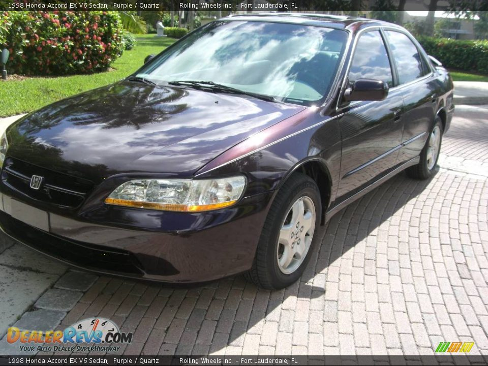 1998 Honda Accord EX V6 Sedan Purple / Quartz Photo #15   DealerRevs ...