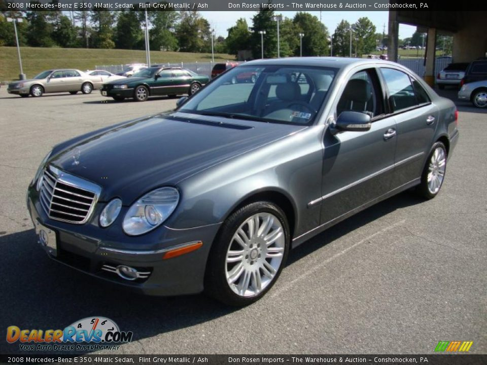2008 mercedes benz e 350 4matic sedan flint grey metallic for Mercedes benz e 350 2008
