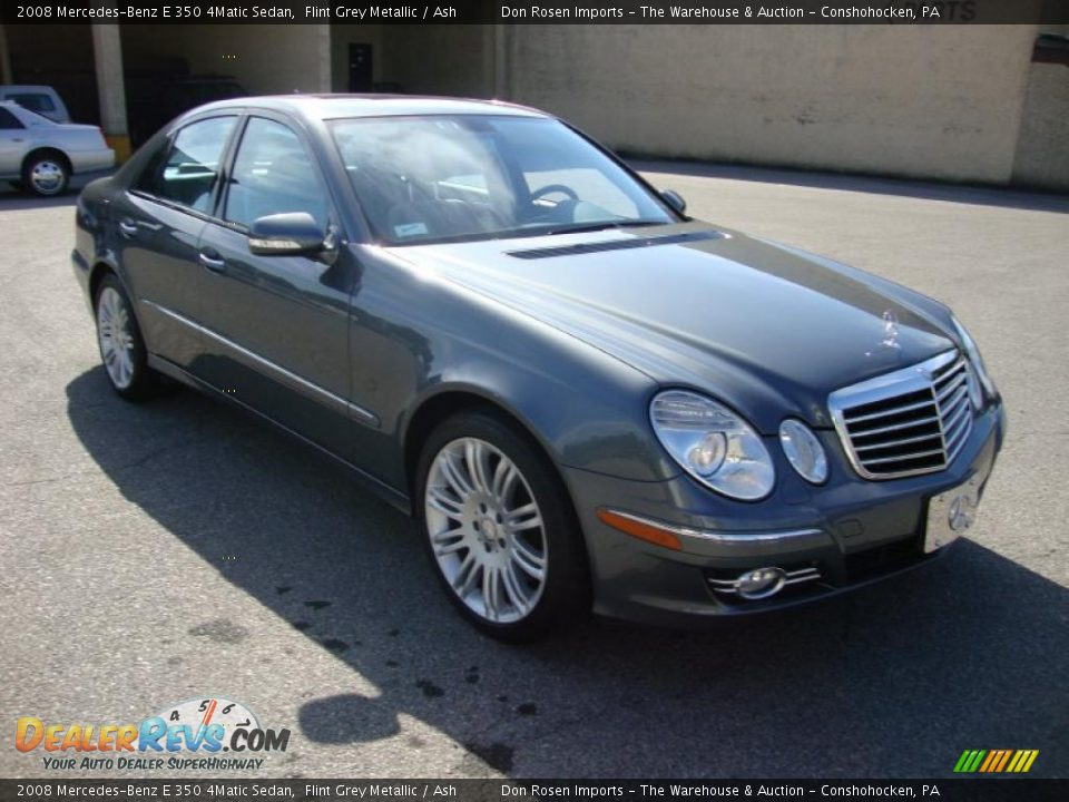 2008 mercedes benz e 350 4matic sedan flint grey metallic. Black Bedroom Furniture Sets. Home Design Ideas