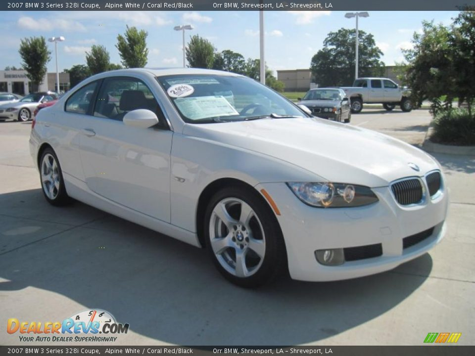 2007 bmw 3 series 328i coupe alpine white coral red black photo 2. Black Bedroom Furniture Sets. Home Design Ideas