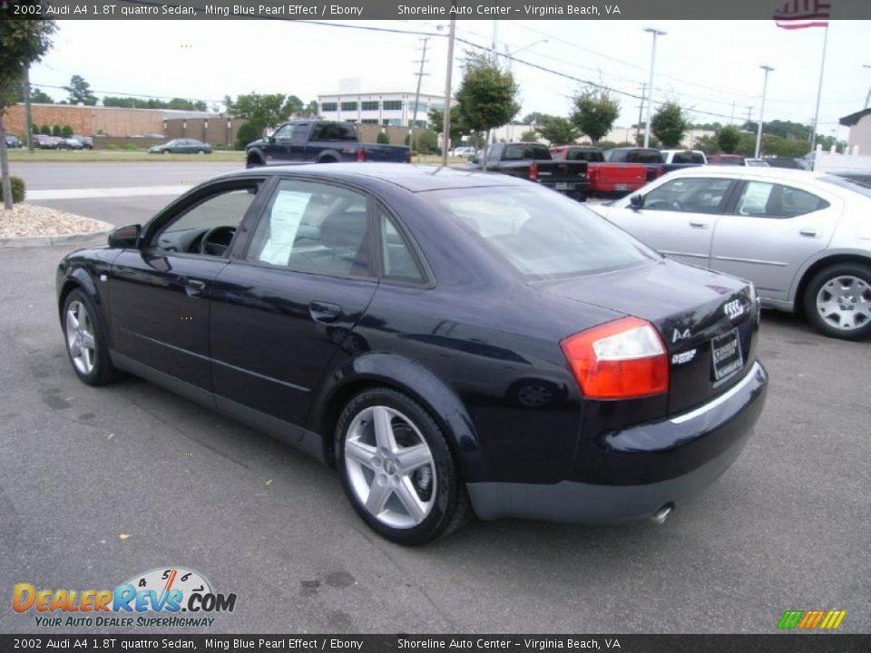 2002 Audi A4 1 8t Quattro Sedan Ming Blue Pearl Effect Ebony Photo 3 Dealerrevs Com