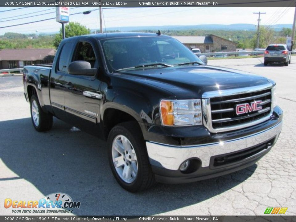 2008 gmc sierra 1500 sle extended cab 4x4 onyx black. Black Bedroom Furniture Sets. Home Design Ideas