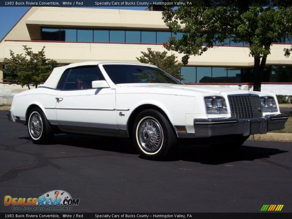 1983 Buick Riviera Convertible White / Red Photo #3 | DealerRevs.com