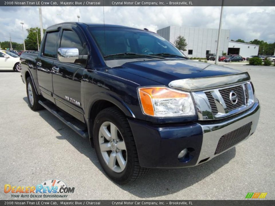 2008 nissan titan le crew cab majestic blue charcoal photo 15. Black Bedroom Furniture Sets. Home Design Ideas