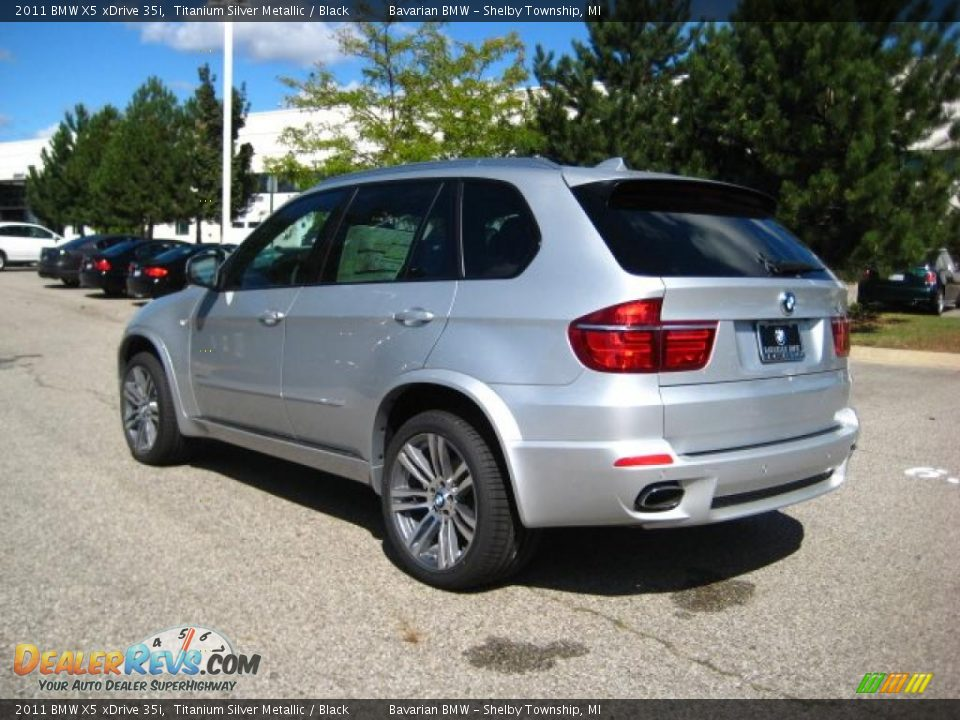 2011 Bmw X5 Xdrive 35i Titanium Silver Metallic Black