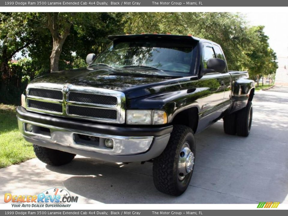 1999 dodge ram 3500 laramie extended cab 4x4 dually black. Black Bedroom Furniture Sets. Home Design Ideas