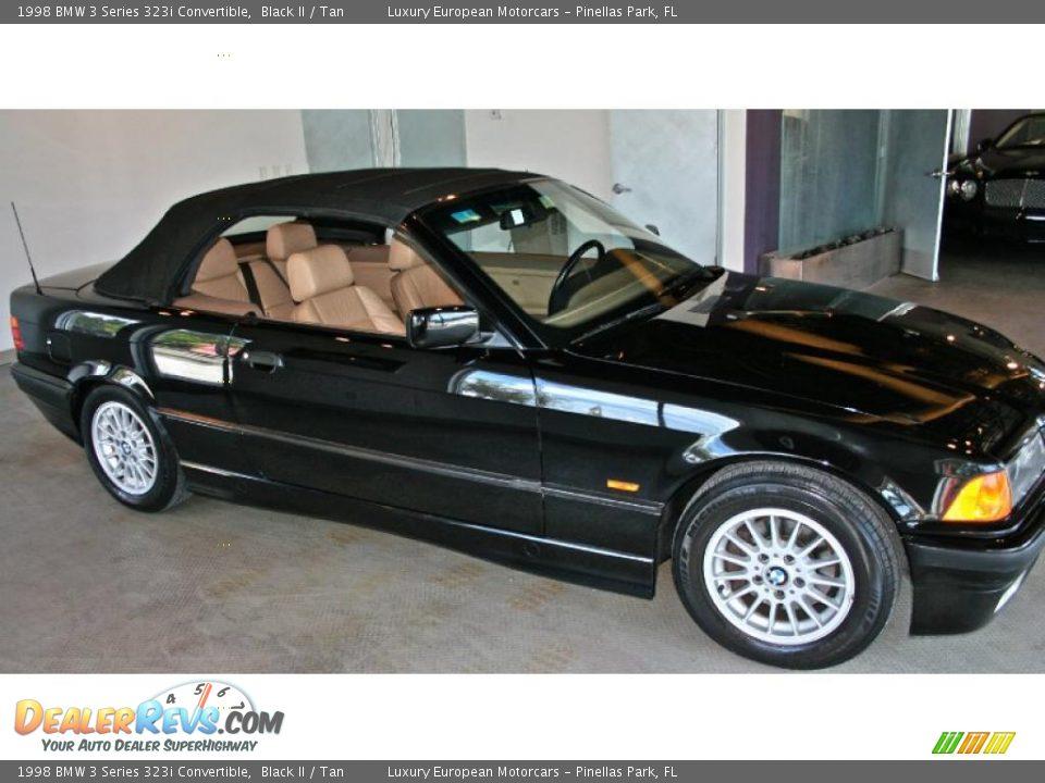 1998 Bmw 3 Series 323i Convertible Black Ii    Tan Photo  3