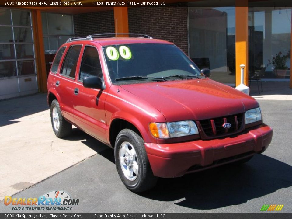 2000 kia sportage 4x4 classic red gray photo 4. Black Bedroom Furniture Sets. Home Design Ideas
