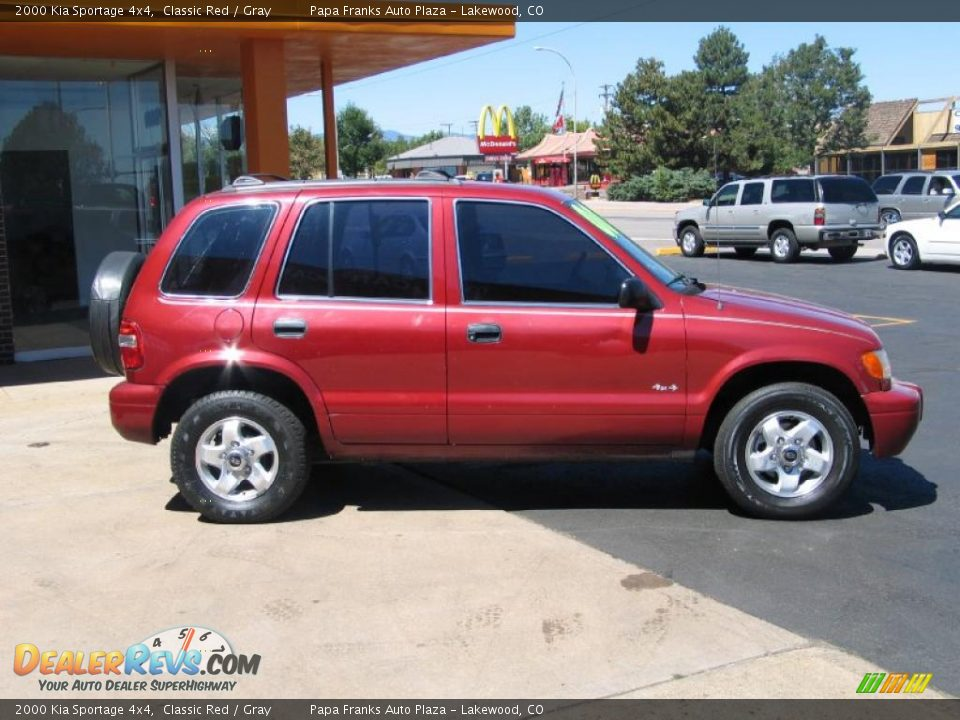 2000 kia sportage 4x4 classic red gray photo 5. Black Bedroom Furniture Sets. Home Design Ideas