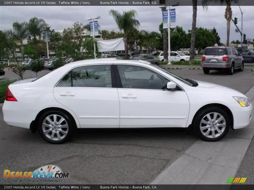 2007 honda accord lx v6 sedan taffeta white ivory photo