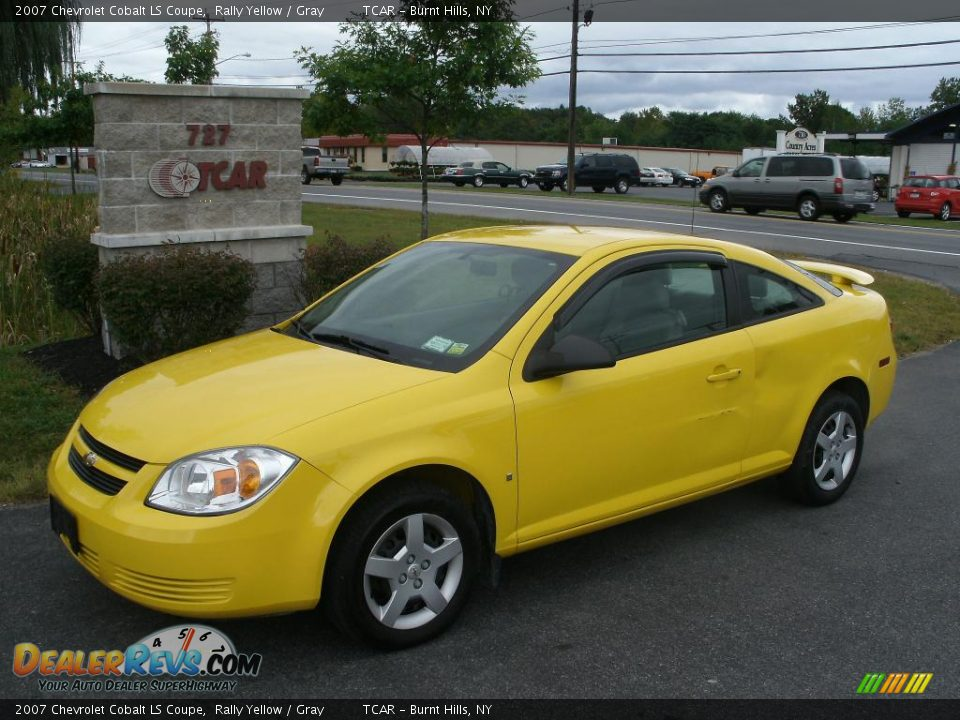 2007 chevrolet cobalt ls coupe rally yellow gray photo. Black Bedroom Furniture Sets. Home Design Ideas
