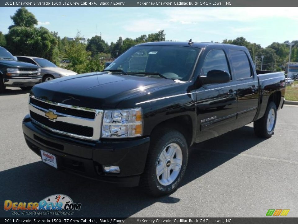 2011 chevrolet silverado 1500 ltz crew cab 4x4 black ebony photo 1. Black Bedroom Furniture Sets. Home Design Ideas