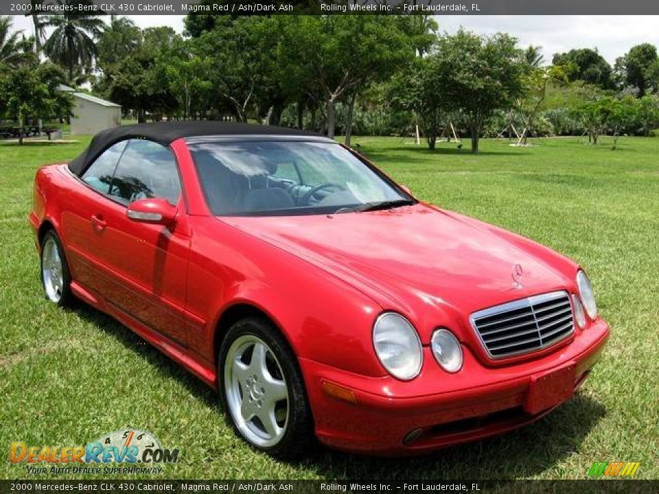 2000 mercedes benz clk 430 cabriolet magma red ash dark. Black Bedroom Furniture Sets. Home Design Ideas