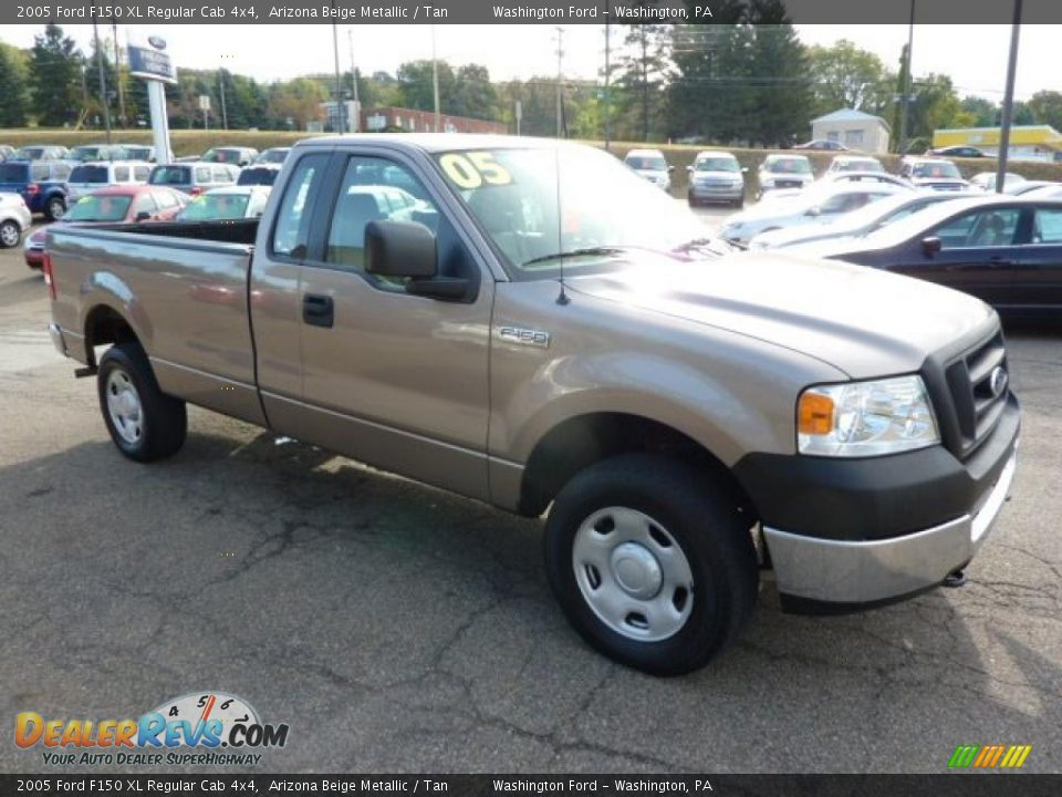2005 Ford F150 Xl Regular Cab 4x4 Arizona Beige Metallic