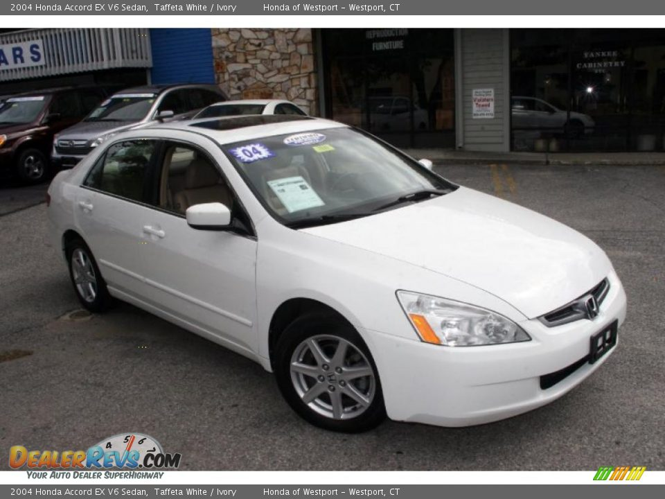 2004 honda accord ex v6 sedan taffeta white ivory photo 3. Black Bedroom Furniture Sets. Home Design Ideas