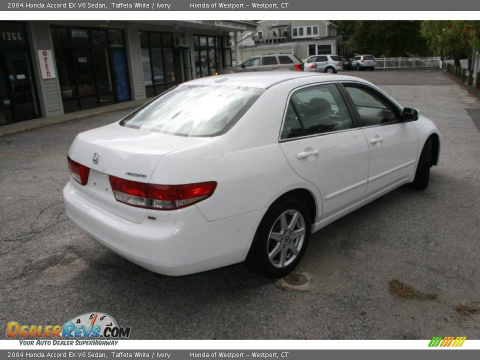 2004 honda accord ex v6 sedan taffeta white ivory photo 5. Black Bedroom Furniture Sets. Home Design Ideas