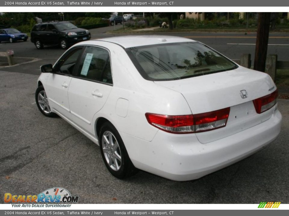 2004 honda accord ex v6 sedan taffeta white ivory photo 8. Black Bedroom Furniture Sets. Home Design Ideas