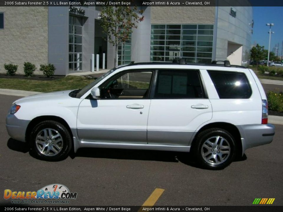 2006 subaru forester 2 5 x l l bean edition aspen white desert beige photo 8. Black Bedroom Furniture Sets. Home Design Ideas
