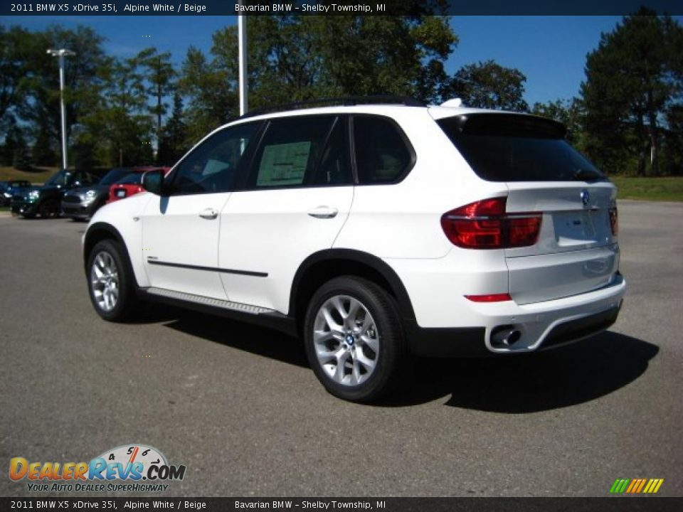 2011 Bmw X5 Xdrive 35i Alpine White Beige Photo 3