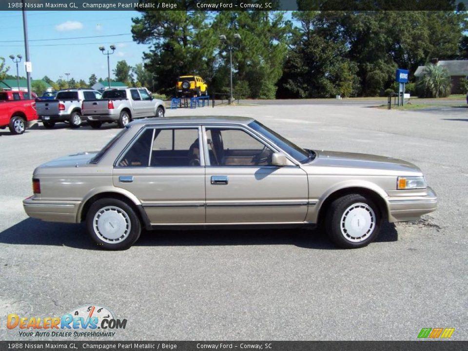 1988 Nissan Maxima Gl Champagne Pearl Metallic Beige