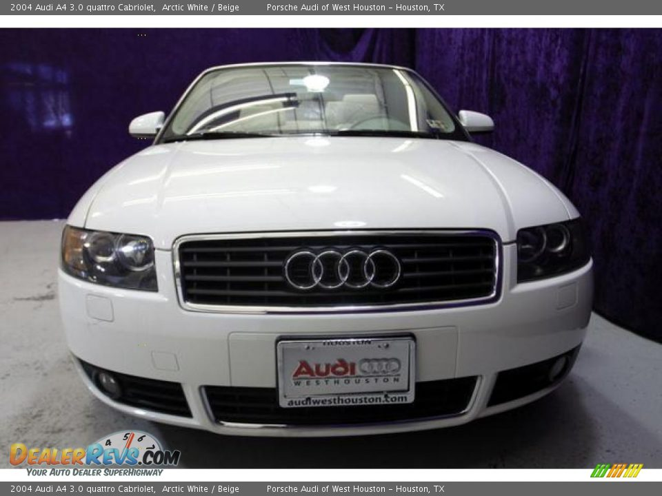 2004 audi a4 3 0 quattro cabriolet arctic white beige. Black Bedroom Furniture Sets. Home Design Ideas