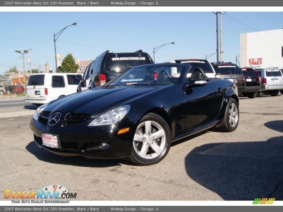 2007 mercedes benz slk 280 roadster black black photo 2. Black Bedroom Furniture Sets. Home Design Ideas