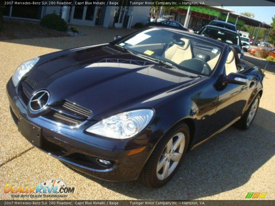 2007 mercedes benz slk 280 roadster capri blue metallic for 2007 mercedes benz slk