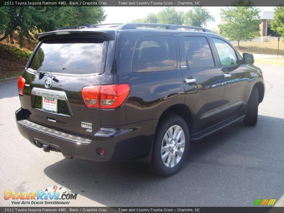 2011 toyota sequoia platinum 4wd black graphite gray. Black Bedroom Furniture Sets. Home Design Ideas