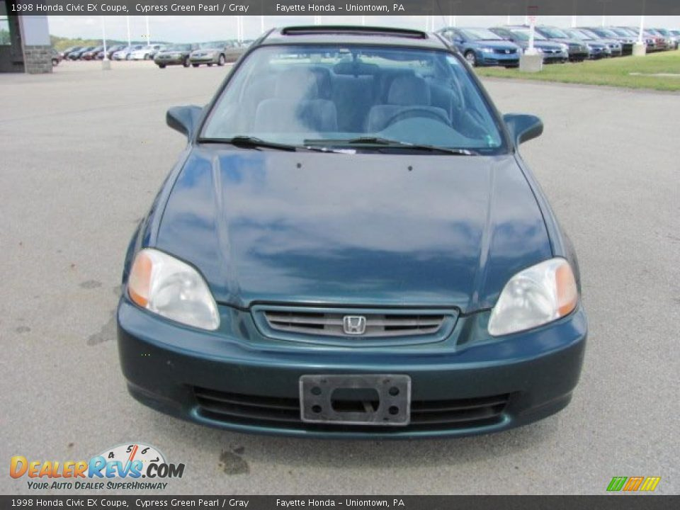 1998 honda civic ex coupe cypress green pearl gray photo 14. Black Bedroom Furniture Sets. Home Design Ideas