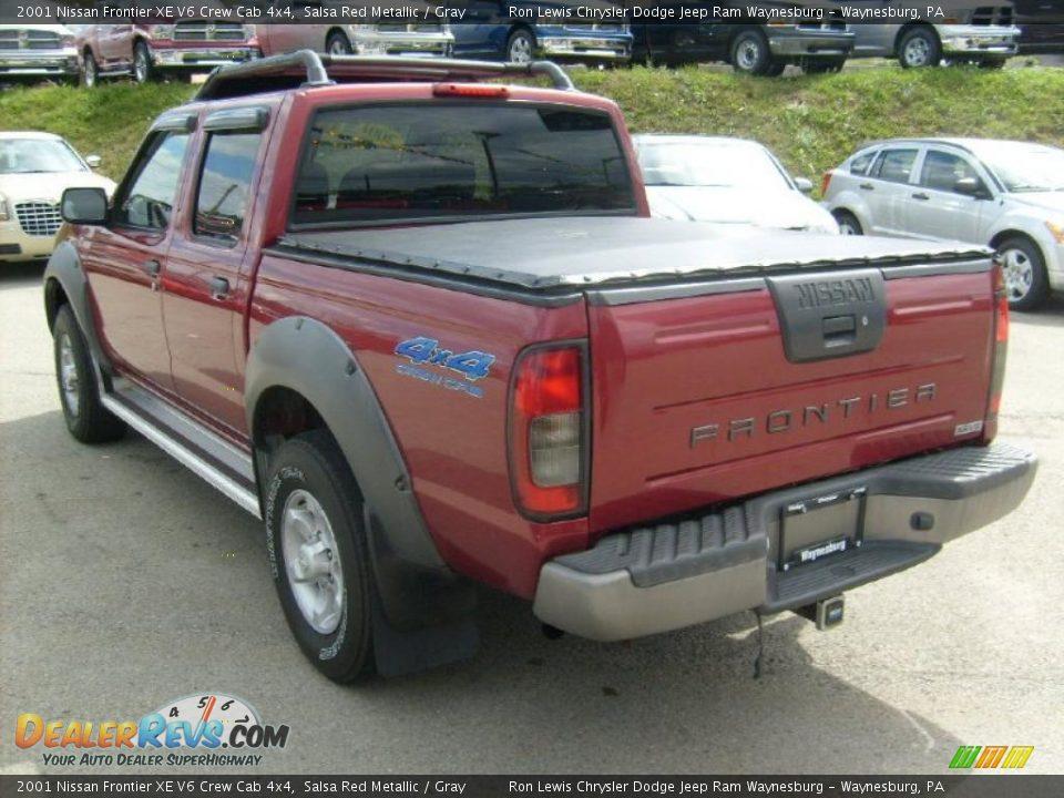 2001 nissan frontier xe v6 crew cab 4x4 salsa red metallic gray photo 3. Black Bedroom Furniture Sets. Home Design Ideas