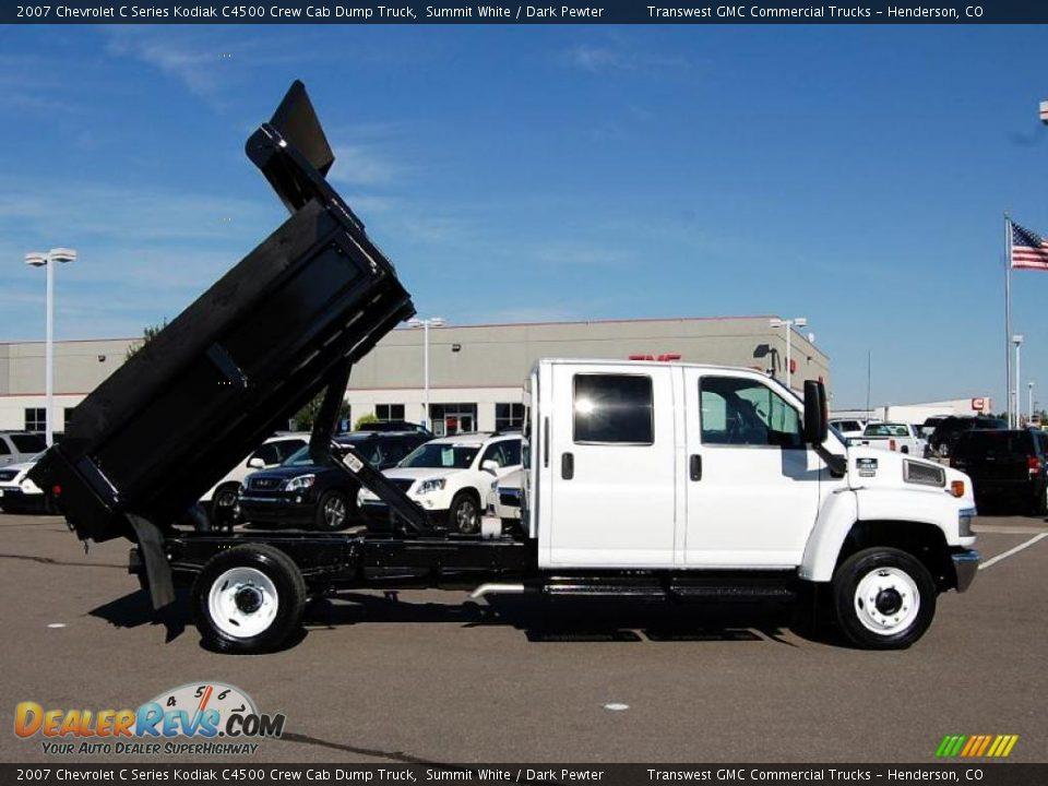 2007 Chevrolet C Series Kodiak C4500 Crew Cab Dump Truck Summit White ...