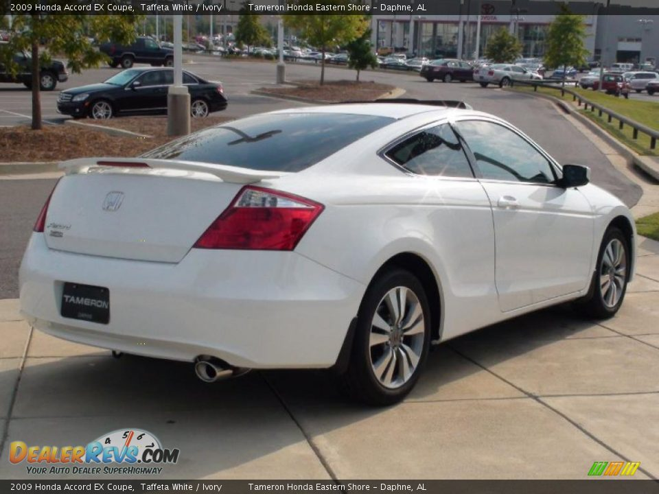 2009 Honda Accord Ex Coupe Taffeta White Ivory Photo 6