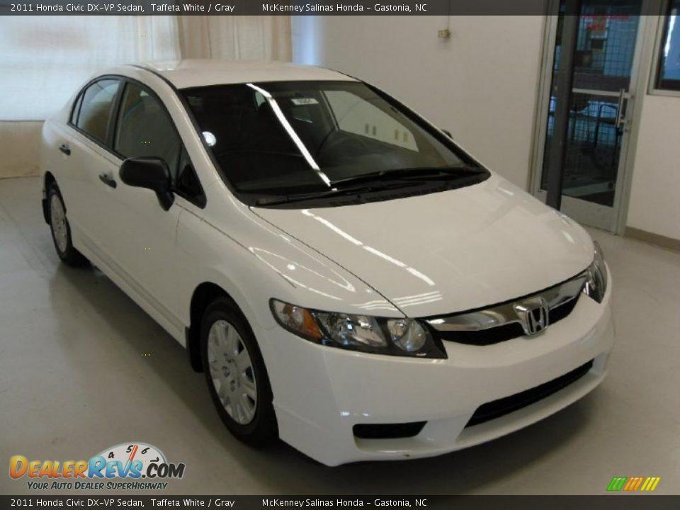 2011 Honda Civic Dx Vp Sedan Taffeta White Gray Photo 5