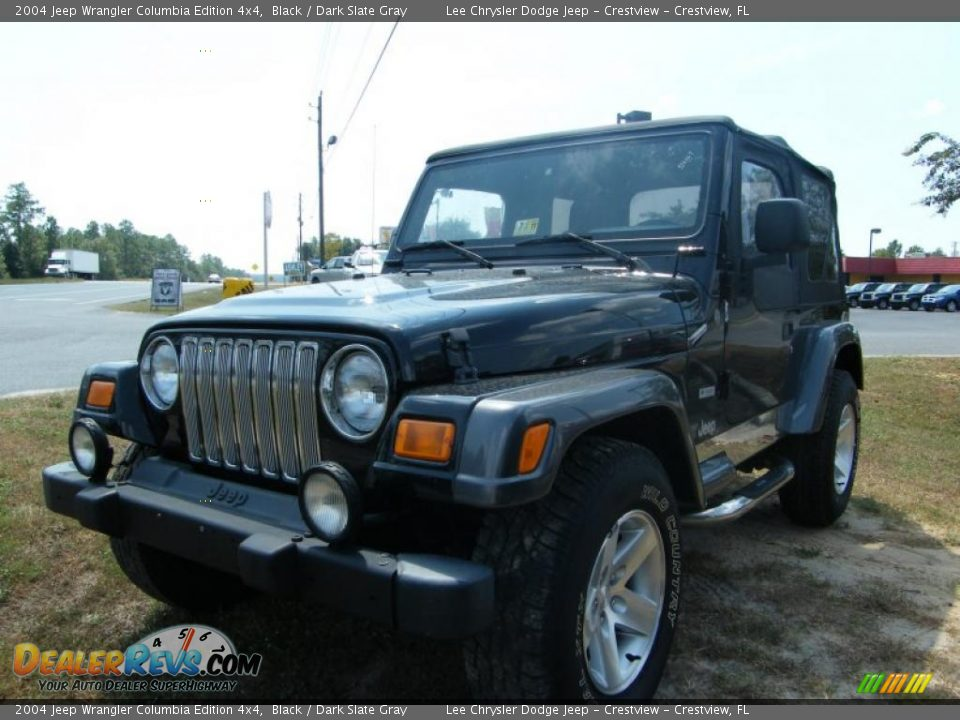 2004 jeep wrangler columbia edition 4x4 black dark slate gray photo 1. Black Bedroom Furniture Sets. Home Design Ideas