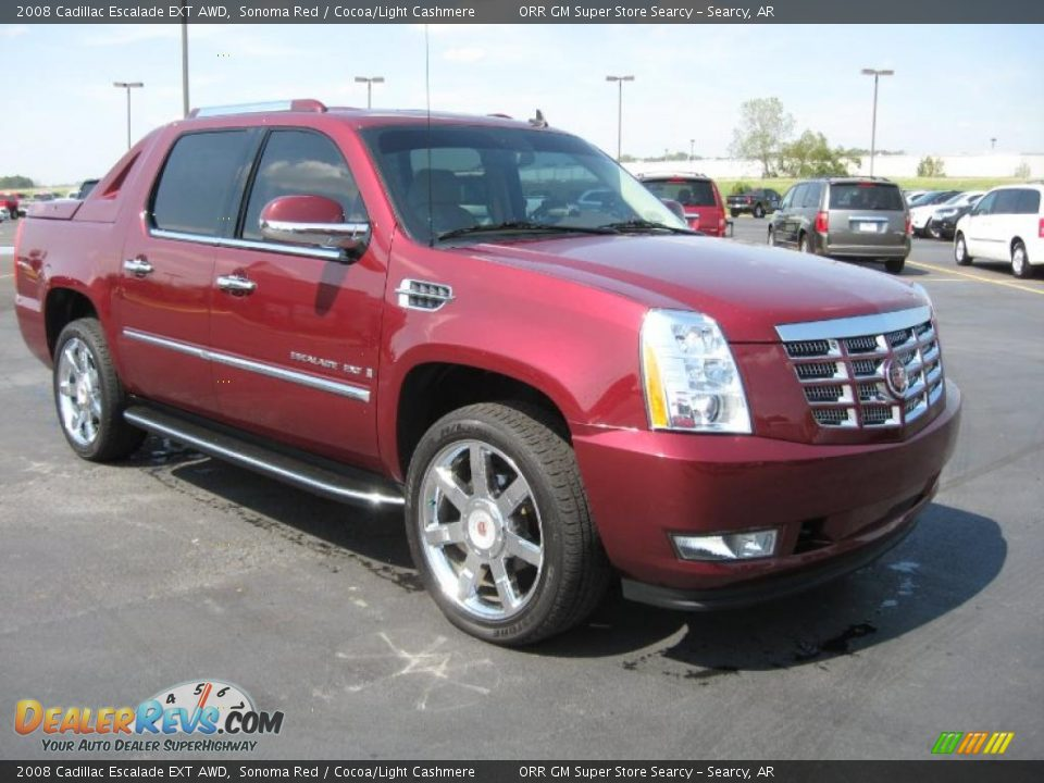 2008 cadillac escalade ext awd sonoma red cocoa light cashmere photo 3. Black Bedroom Furniture Sets. Home Design Ideas