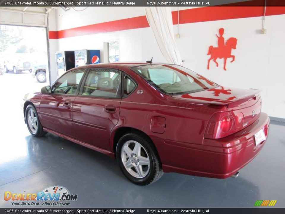 2005 chevrolet impala ss supercharged sport red metallic neutral beige photo 2. Black Bedroom Furniture Sets. Home Design Ideas