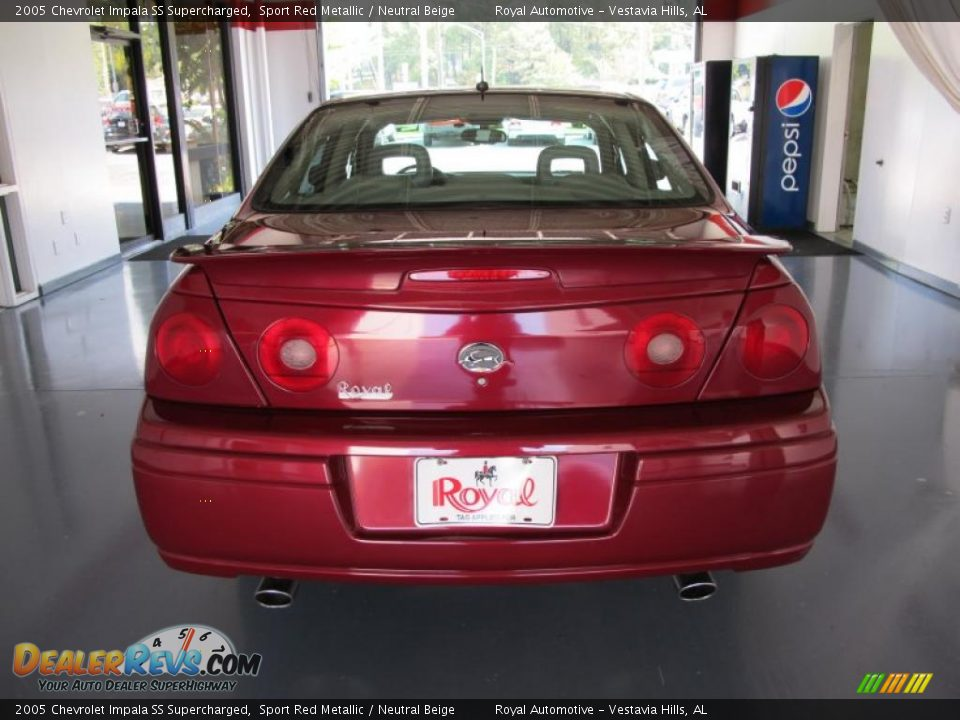 2005 chevrolet impala ss supercharged sport red metallic neutral beige photo 3. Black Bedroom Furniture Sets. Home Design Ideas