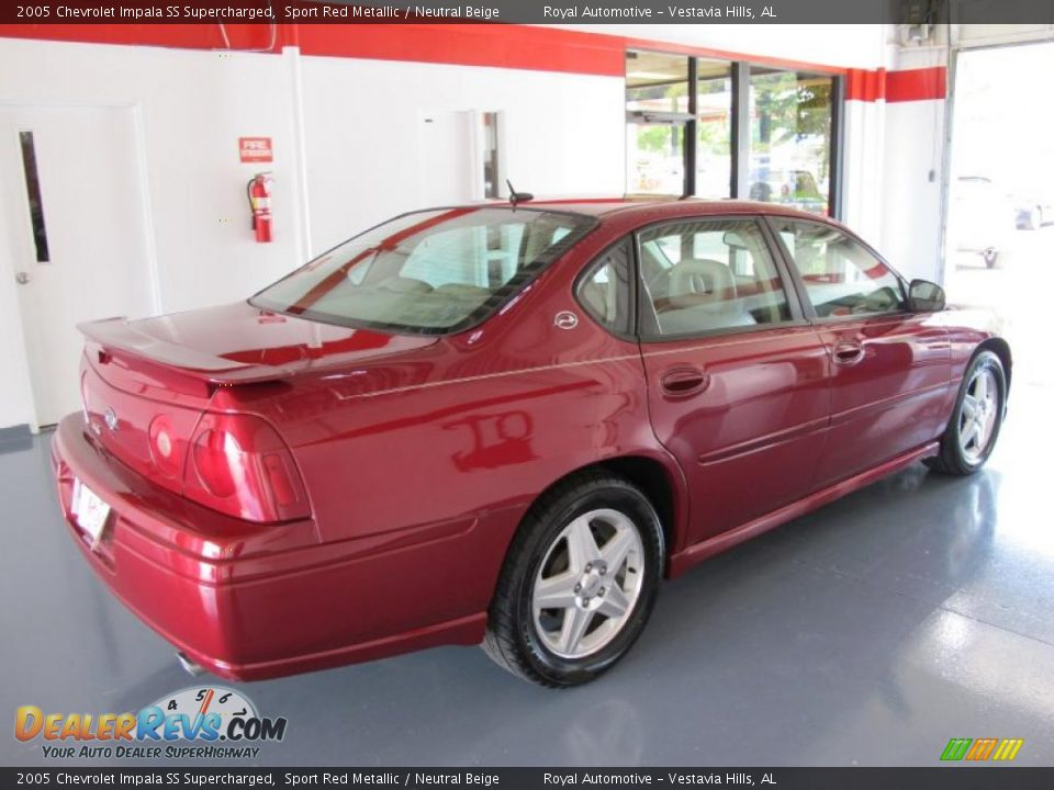 2005 chevrolet impala ss supercharged sport red metallic neutral beige photo 4. Black Bedroom Furniture Sets. Home Design Ideas