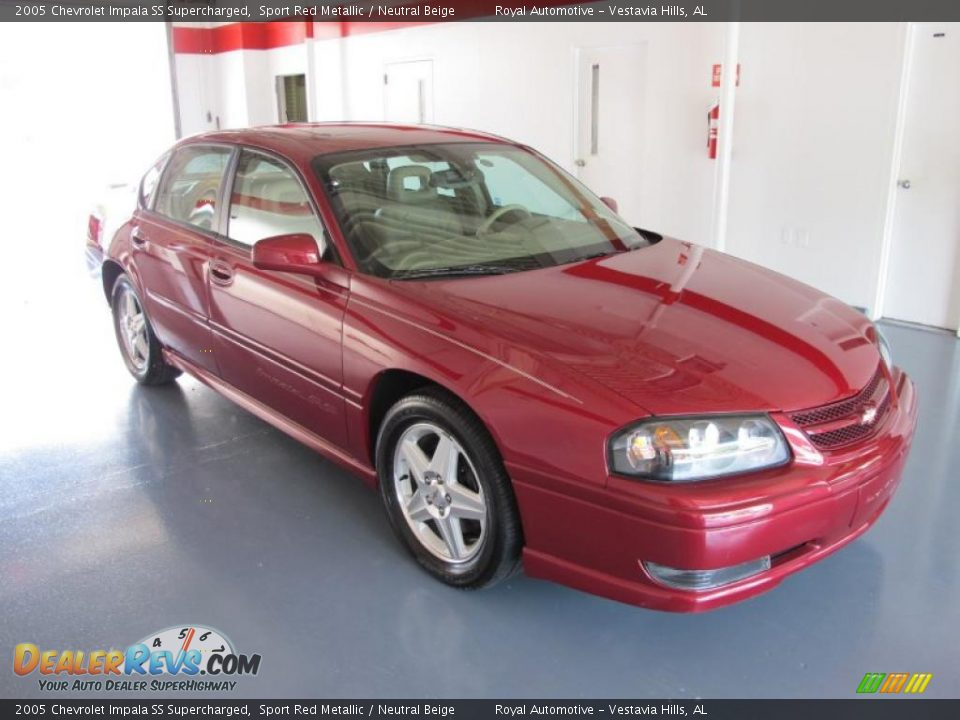 2005 chevrolet impala ss supercharged sport red metallic neutral beige photo 5. Black Bedroom Furniture Sets. Home Design Ideas
