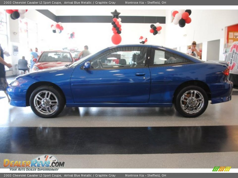 2003 chevrolet cavalier ls sport coupe arrival blue metallic graphite gray photo 3 dealerrevs com dealerrevs com