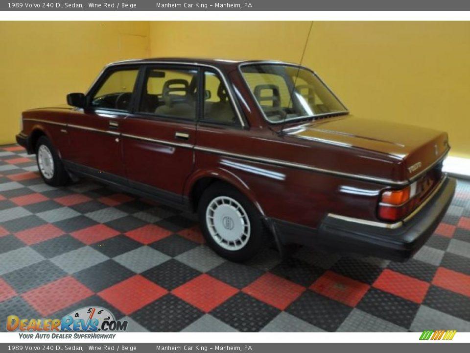 1989 volvo 240 dl sedan wine red beige photo 4. Black Bedroom Furniture Sets. Home Design Ideas