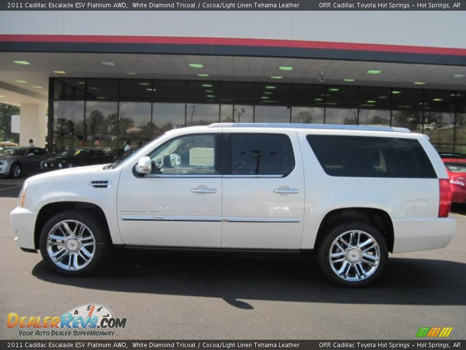 2011 Cadillac Escalade Esv Platinum Awd White Diamond