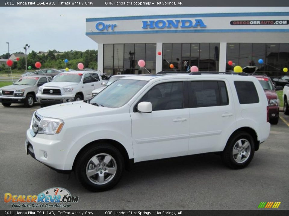 2011 Honda Pilot Ex L 4wd Taffeta White Gray Photo 1
