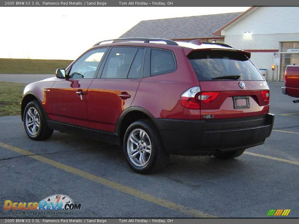 2005 bmw x3 flamenco red metallic sand beige photo 2. Black Bedroom Furniture Sets. Home Design Ideas